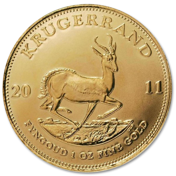 1 Oz Gold Krugerrand With Bitcoin
