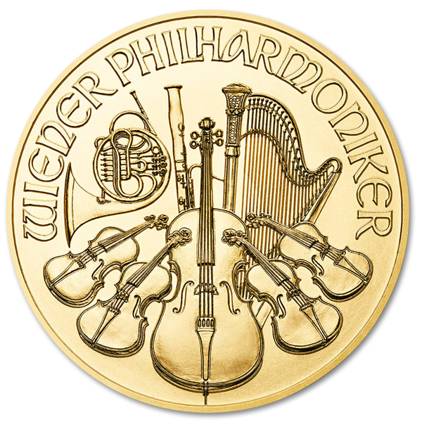 Gold Vienna Philharmonic 1/10 oz - image 1