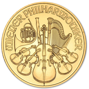 Gold Vienna Philharmonic 1/4 oz - image 1