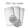 20 x 1 oz Silver roll of Philharmonic coins