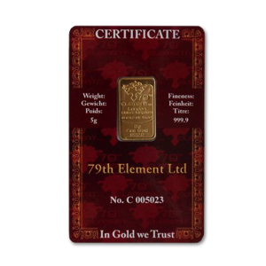 Gold bar 5 gram - image 1