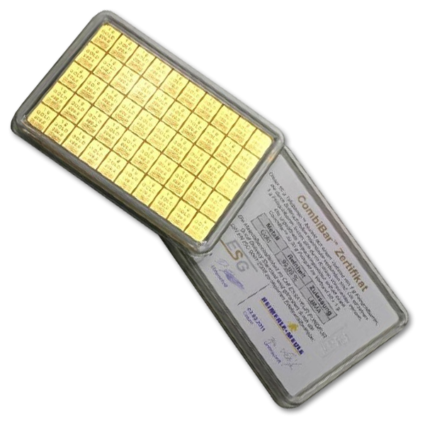 Investment gold bars 50 x 1 gram with bitcoin